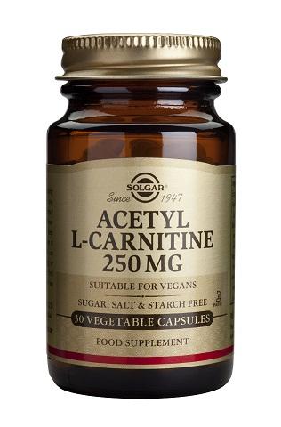 Acetil L-Carnitina 250mg 30 Capsulas Vegetales Solgar