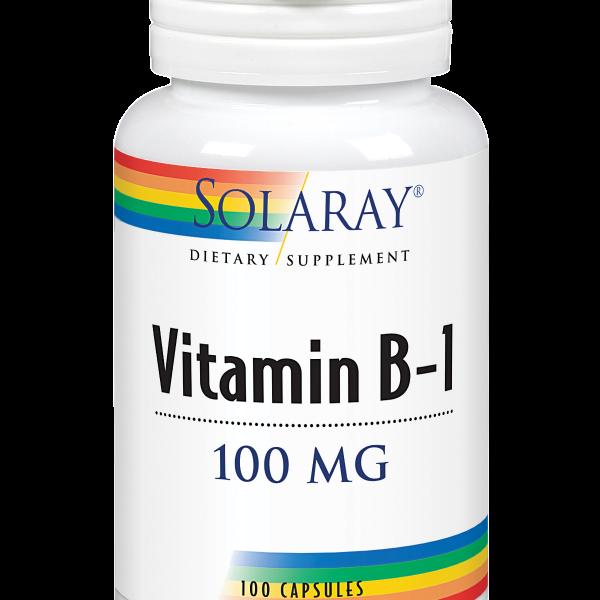Vitamina B1 100mg 30 caps Solaray