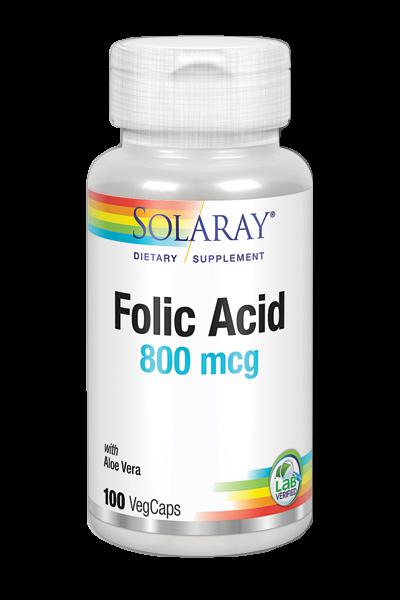 acido folico solaray 800mg