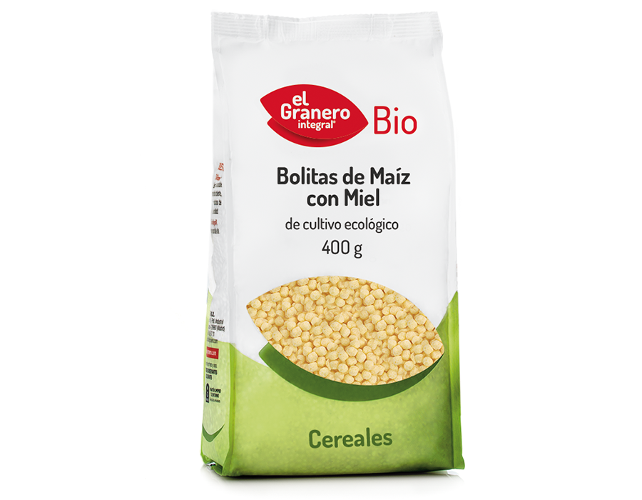 Bolitas Maiz con Miel Bio 400g El Granero
