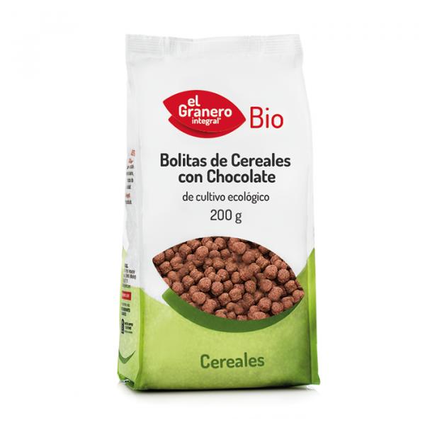 Bolitas cereales chocolate Bio 200g El Granero