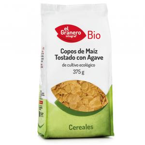 Copos Maiz Tostado con Agave Bio 375g El Granero