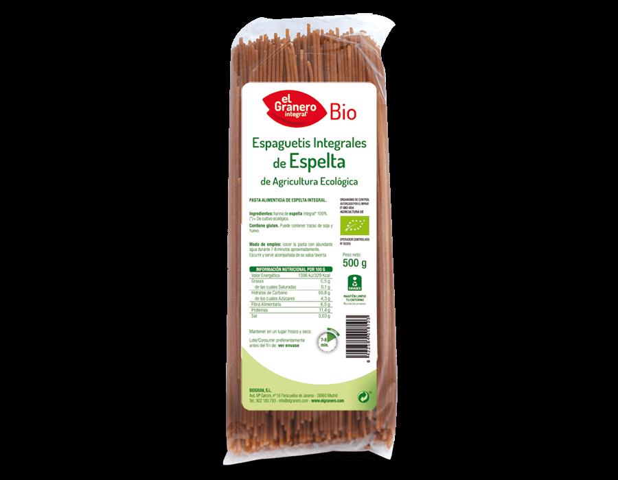 Espaguetis Espelta Integral Bio 500g El Granero