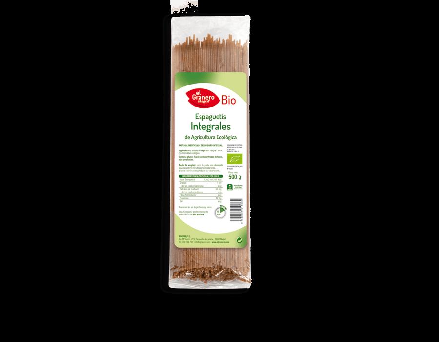 Espaguetis Integrales Bio 500g El Granero