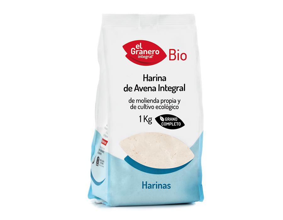 Harina Avena integral Bio 1kg El Granero