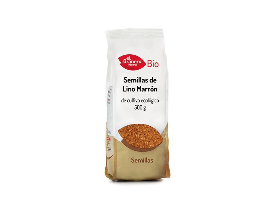 Semillas lino marron bio 500g El Granero